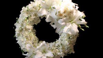 West Island White Elegant Funeral Wreath