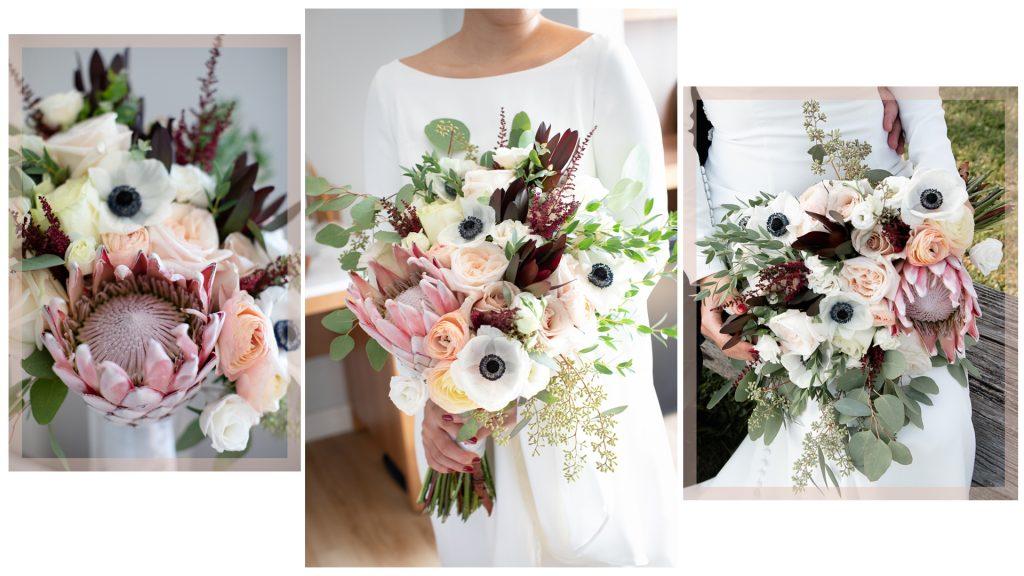 Stunning King Protea wedding bouquet