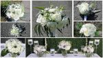 Garden looking white and green bridal bouquet in Montreal