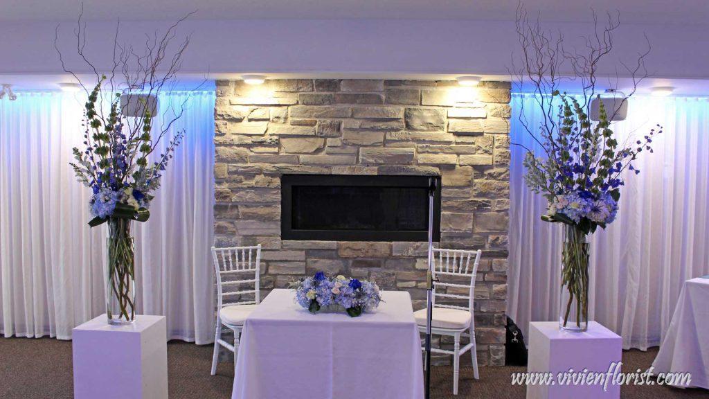 Beautiful blue wedding arch Montreal