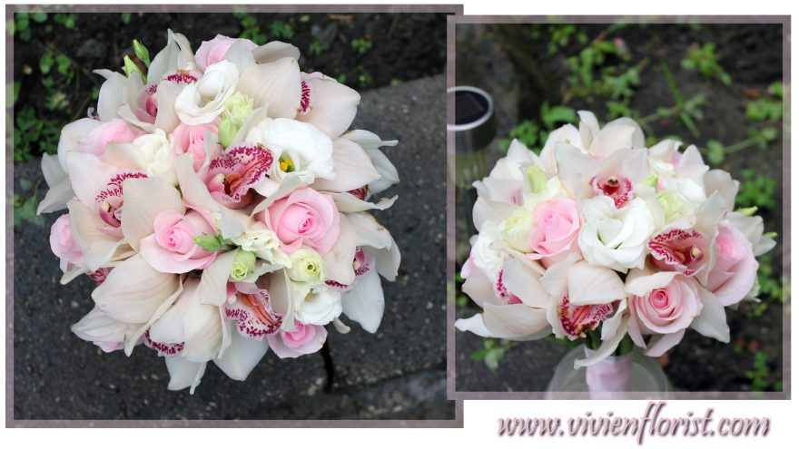 Classic and Simple Cymbidium Roses Bridal Bouquet