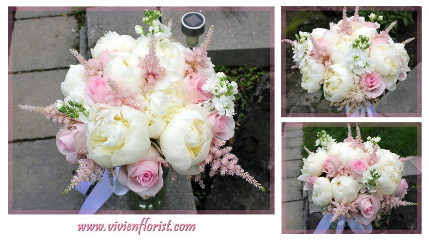 Luxurious Peonies and Astilbes Bridal Bouquet