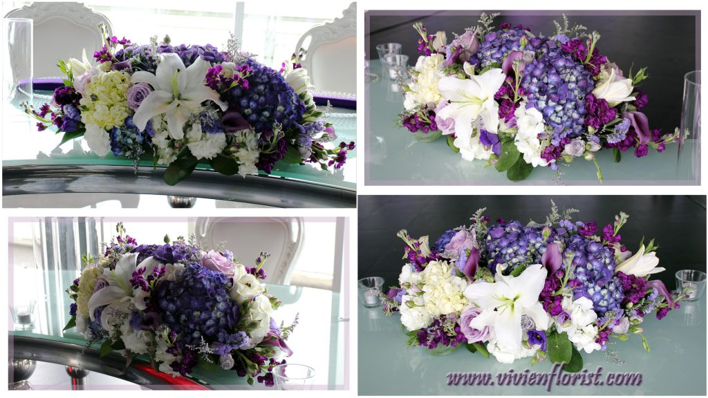Glamorous Lilies and Hydrangeas Centerpiece in Montreal