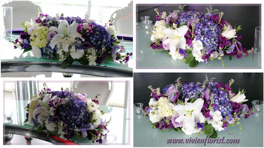 Glamorous Lilies and Hydrangeas Centerpiece