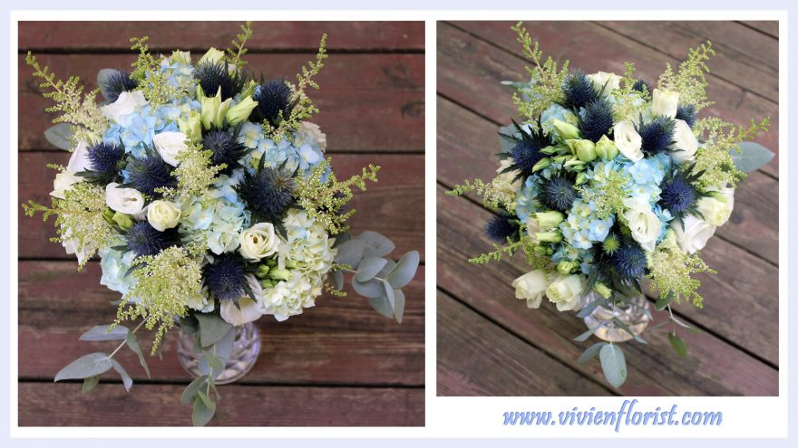 Blue Garden Bridal Bouquet