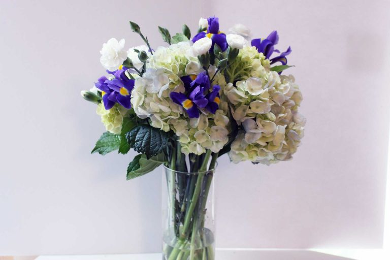 Pretty blue fresh bouquet