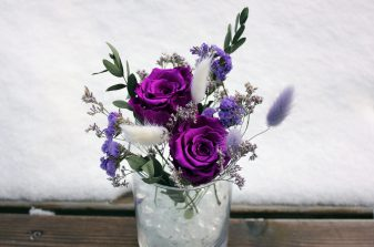 Purple Eternal Roses with Preserved Flowers