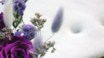 Purple Eternal Roses in a Vase