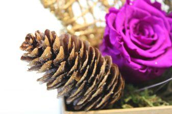 Purple preserved rose gift box