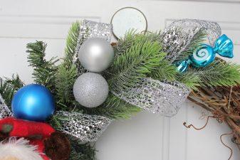 Cute handmade reindeer grapevine wreath